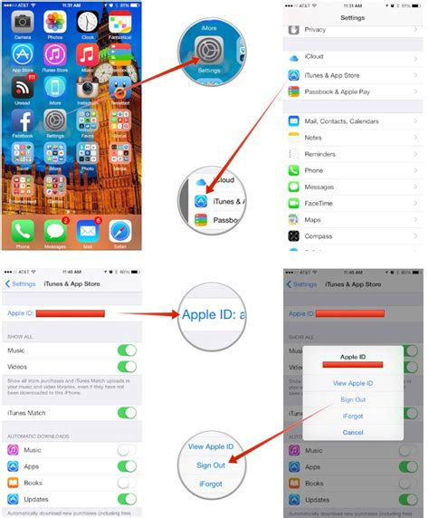 how to change itunes account on iphone how to change the itunes account on your iphone or imore