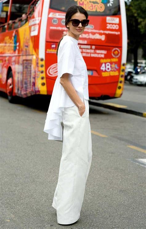 Pakaian Wanita Sr62 Milan Top inspiraci 243 n para usar pantalones anchos esta temporada