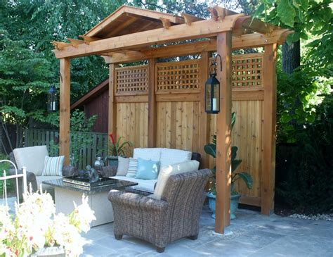pergola privacy screen contemporary landscape - Privacy Pergola