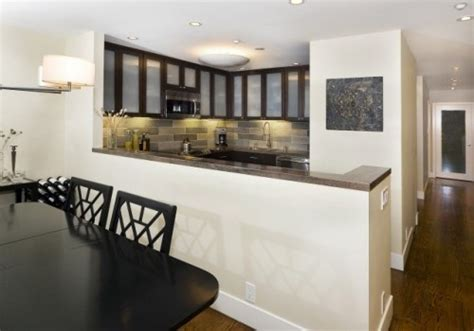 kitchen half wall ideas semi open concept with peninsula and half wall no bar tho kitchen ideas small