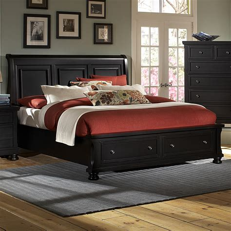 vaughan bassett reflections king storage bed  sleigh