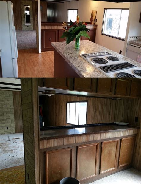 Single Wide Mobile Home Interior Remodel by Mobile Home Makeover Before And After Rehab Pictures
