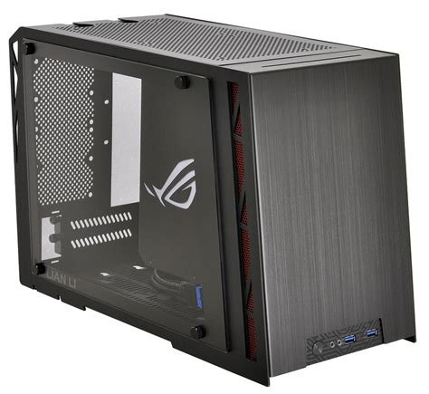 mini itx lian li outs asus rog certified pc q17 mini itx