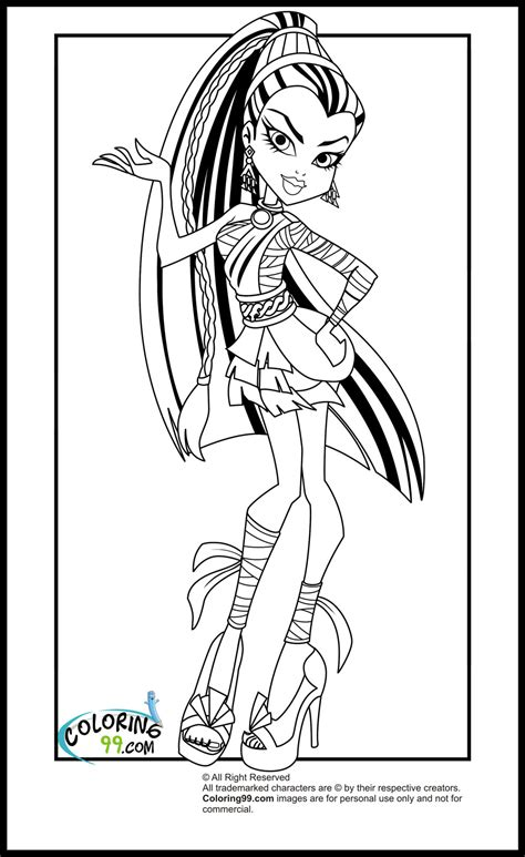 monster high coloring pages team colors