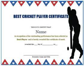 Cricket Certificate Templates by 22 Well Designed Cricket Certificate Templates Free Word