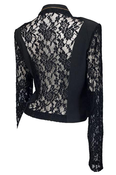plus size open front lace sleeve jacket black evogues apparel