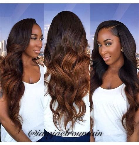pictures of black ombre body wave curls bob hairstyles 1157 best blackhairomg com images on pinterest