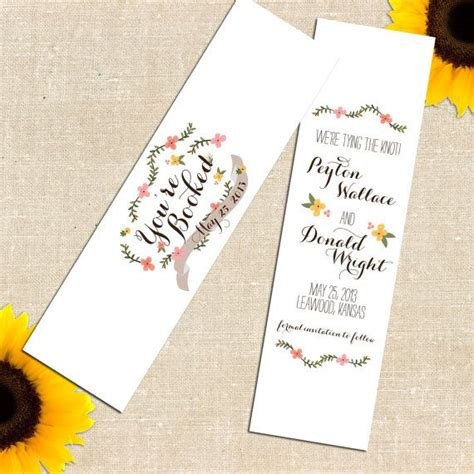 save the date bookmark template diy printable carolina save the date bookmark i like
