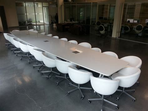 white conference room table modern conference table ambience dor 233