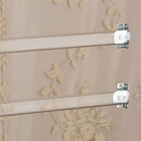 Sash Rod Curtains clear sash curtain rod set of 2 12 quot to 36 quot