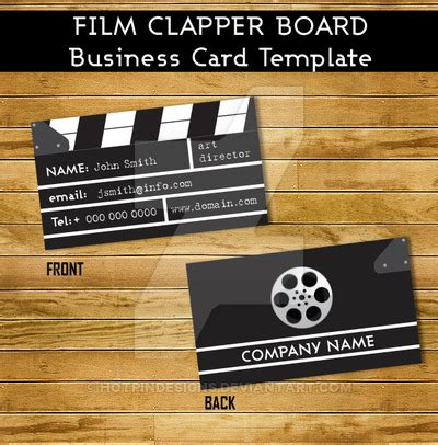 filmmaker business cards templates clapper business card template by hotpindesigns on