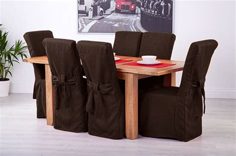 Fabric Seat Covers For Dining Chairs Fabric Slipcovers For Scroll Top High Back Leather Oak Dining Chairs Seat Covers Ebay