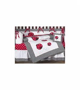 sweet jojo designs ladybug 9 crib bedding set