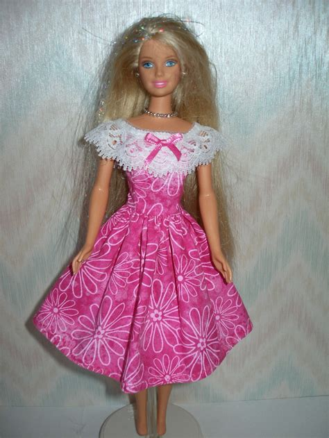 Handmade Clothes Patterns - handmade doll clothes pink and white dress
