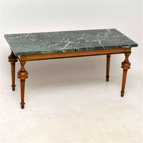 Antiques Coffee Tables Marble Top Coffee Table C 1920 Loveantiques