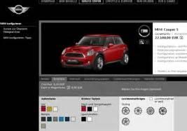 Bester Auto Konfigurator by Autokonfiguration Auf Mini Homepage