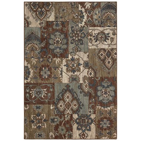 home depot mohawk area rugs mohawk home nuka brown 8 ft x 10 ft area rug 001962 the home depot