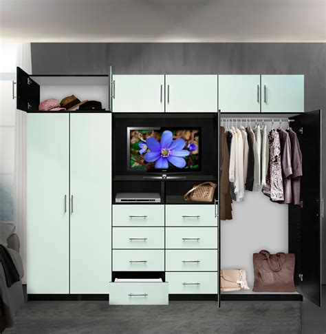 Wardrobe Closet Wall Unit Aventa Tv Wall Unit X 10 Door Wall Unit For