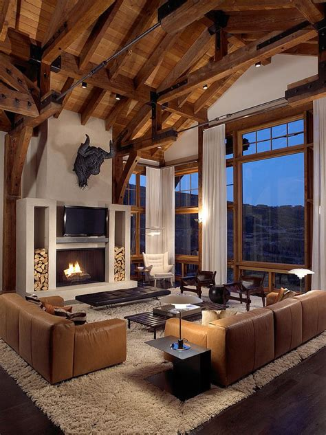 Mountain Homes Interiors by Best 25 Modern Lodge Ideas On Pinterest Beauty Cabin