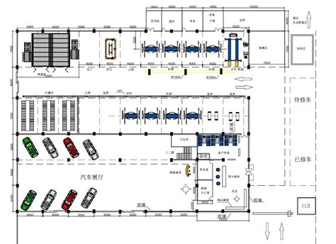 layout of diesel mechanic workshop 1500m2 workshop design car equipment one stop service