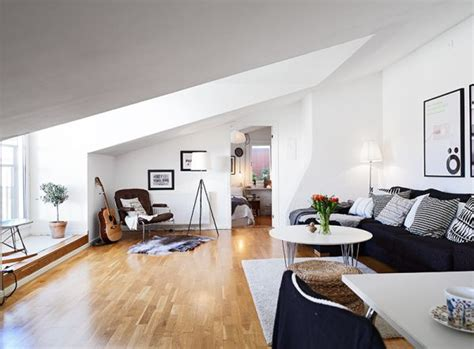attic apartment ideas small but chic attic apartment with beautiful views and a balanced d 233 cor