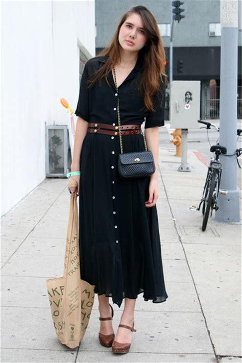 black vintage dresses brown ayelet shachar belts brown