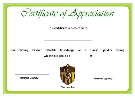 Certificate of appreciation for guest speaker sample hatch certificate yelopaper Image collections