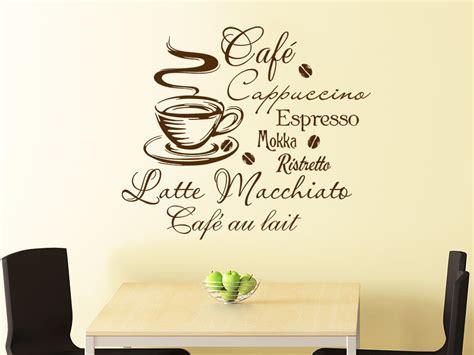 wandtattoo de wandtattoo kaffee mit kaffeetasse und kaffeesorten