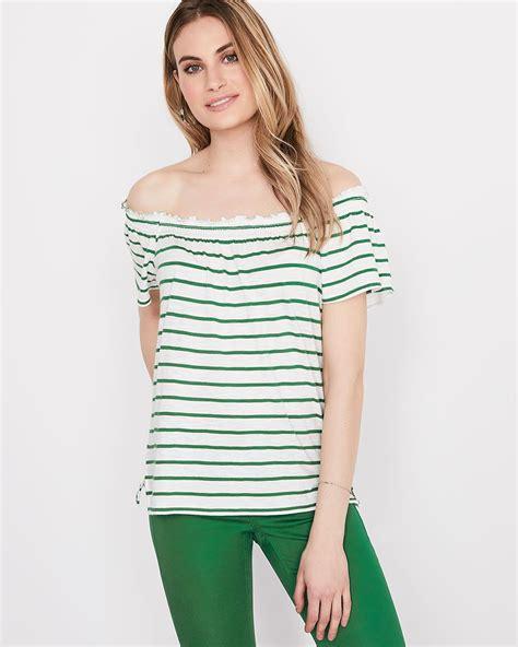 Striped Shoulder striped the shoulder t shirt rw co