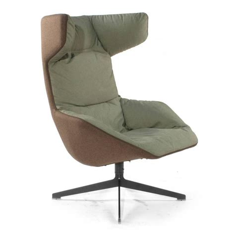 Moroso Take A Line For A Walk Swivel Wingback Chair By Wingback Swivel Chair