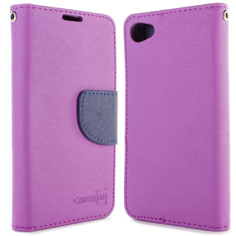 Xperia Z5 Compact Mini Wallet Flip Cover Card Leat Murah coveron 174 for sony xperia z5 compact mini wallet