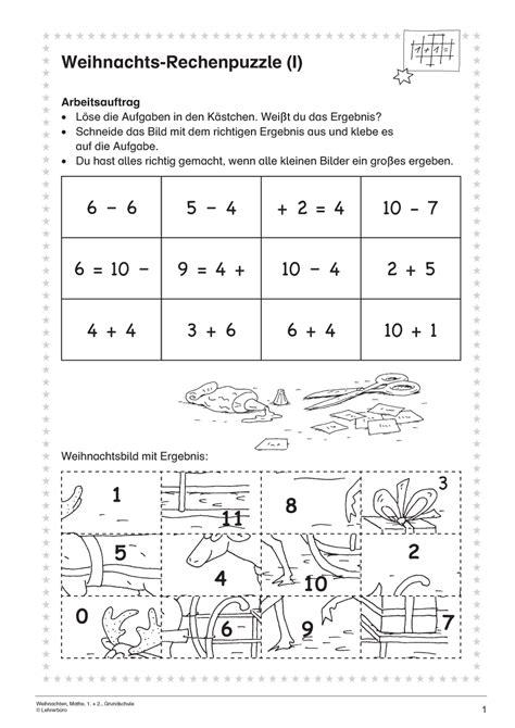 Nice Klasse 2 Weihnachten Arbeitsblatt Composition - Mathe ...