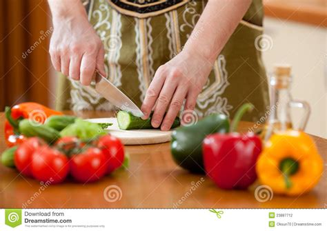 Food Wallpaper Kitchen by Preparing Healthy Food Vegetable Salad On Kitchen Stock