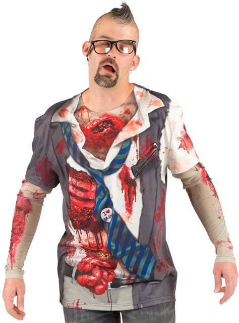 zombie t shirt tutorial faux real zombie costume tee the walking dead t shirt