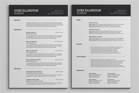 templates for pages cv two pages classic resume cv template resume templates on