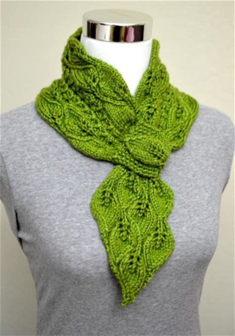 knitting term skpo leaves mock cables scarf supply patterns kollabora
