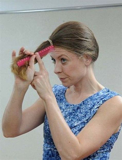 diy cutting a stacked haircut 28 best cutting your own hair images on pinterest hair