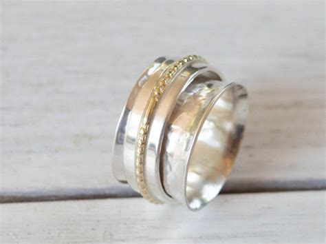 worry ring with spinner for womens fidget ring worry ring meditation ring
