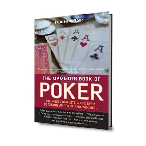 libro the mammoth book of the mammoth book of poker tienda rekoppoker