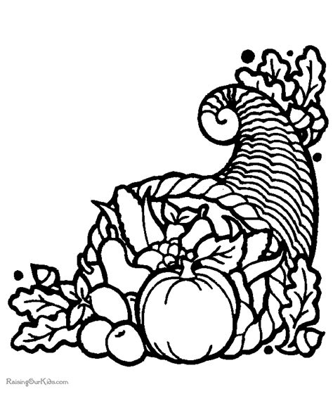 free printable thanksgiving food coloring pages 004 printable coloring pages cornucopia