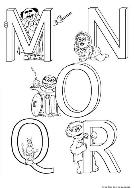 coloring pages sesame street alphabet printable sesame street alphabet worksheets for kidsfree