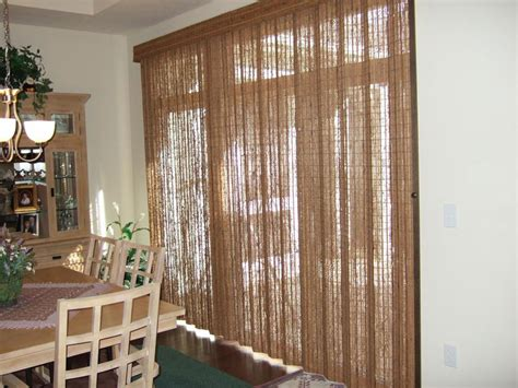 bamboo blinds for sliding glass doors curtain amazing curtains for sliding doors decorating