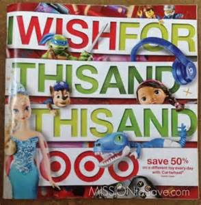 target black friday catalog target toy book christmas 2014 mission to save