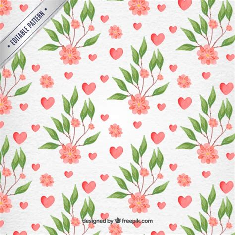 watercolor flowers pattern vector free download valentine day watercolor flowers patterns vector premium