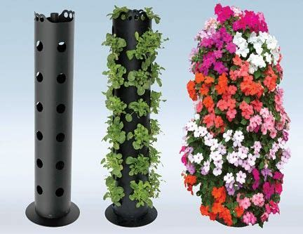 Flower Tower Freestanding Planter by Build Pvc Plant Stand Woodworking Projects Plans