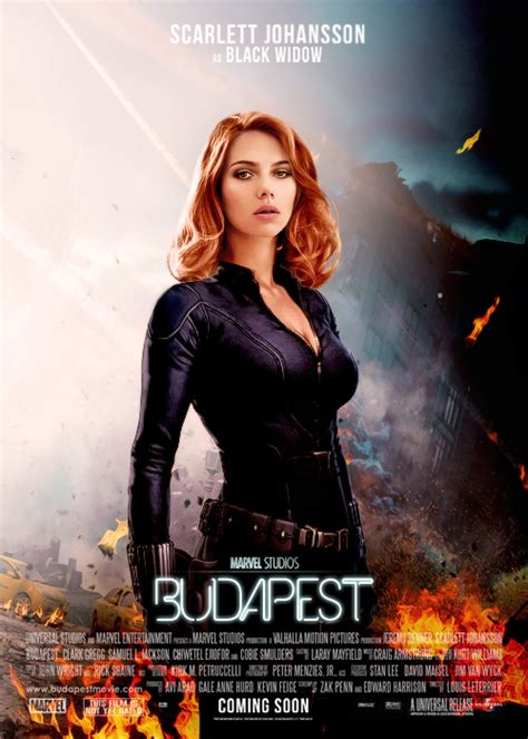 film marvel natasha fan poster for the black widow hawkeye quot budapest quot movie