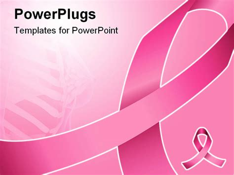 Pink Ribbon Can Be Used For Background Breast Cancer Breast Cancer Ppt Template Free