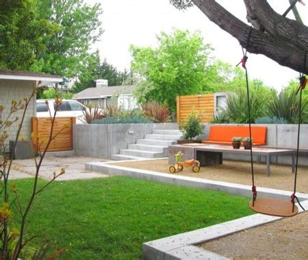 backyard plus quot different zones ground surfaces and raised patios offer