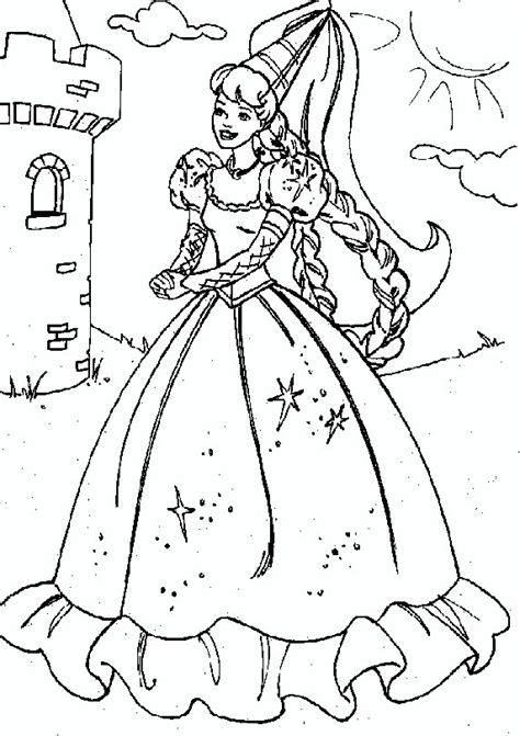 barbie rapunzel barbie movies coloring pages pinterest