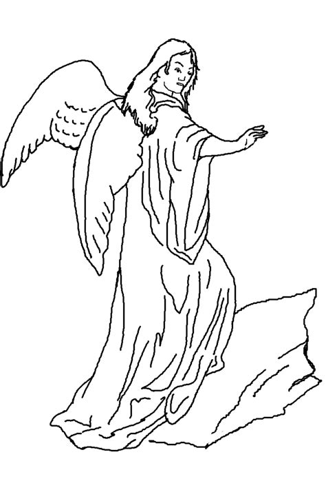 coloring page angels free coloring pages of angel